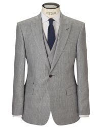 John Lewis - Blue Whitehorn Wool Linen Basketweave Tailored Suit Jacket for Men - Lyst