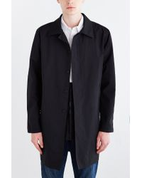 Stussy | Black Nylon Trench Coat for Men | Lyst