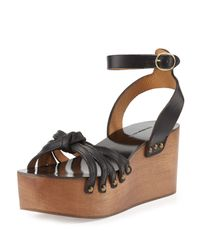 Isabel Marant - Black Zia Leather Sandals - Lyst