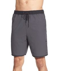 Hurley | Gray 'rush Volley' Dri-fit Shorts for Men | Lyst