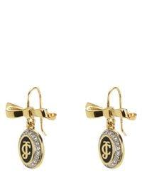 Juicy Couture | Metallic Jc Enamel Keepsake Drop Earrings | Lyst