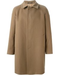 Tagliatore - Brown Single Breasted Coat for Men - Lyst