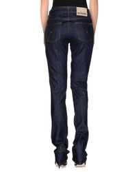 John Galliano | Blue Denim Trousers | Lyst