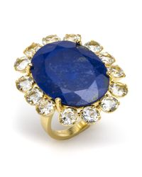 Bounkit | Blue Lapis Flower Ring | Lyst