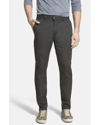 Jeremiah | Black 'ellison' Peached Cotton Cargo Pants for Men | Lyst