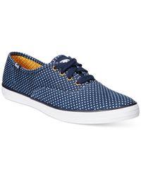 Keds | Blue Women's Champion Canvas Sneaker | Lyst