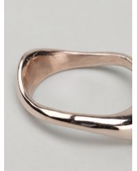 Maxime Llorens | Metallic Small Zipzag Ring | Lyst