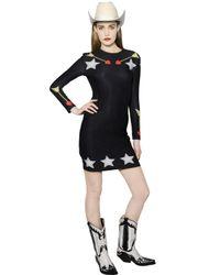 Maria Escoté - Black Star Arrow Print Stretch Jersey Dress - Lyst