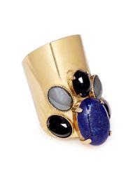 Ela Stone | Blue 'Maïko' Lapis Lazuli Onyx Hematite Ring | Lyst
