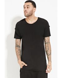 Forever 21 - Black Unknown Elongated Tee for Men - Lyst