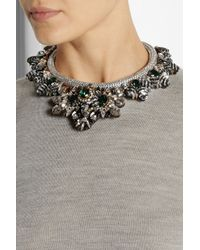 Shourouk | Green Avalon Swarovski Crystal And Sequin Necklace | Lyst