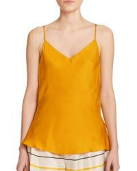 Rag & Bone | Metallic Cove Silk Scoopback Tank Top | Lyst