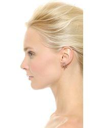 Maria Black Pink Wing Earring Set Rose Gold