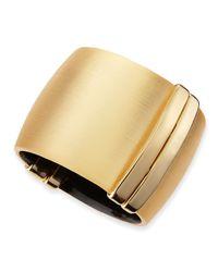 Alexis Bittar - Metallic Golden Liquid Lucite Hinge Cuff - Lyst