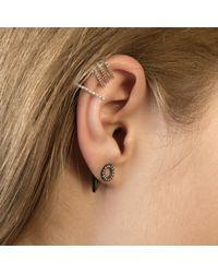 Astrid & Miyu - Black Circle Ear Jacket In Gunmetal - Lyst