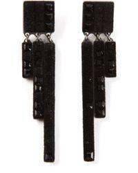 Atelier Swarovski - Black Velvet Rock Chandelier Earrings - Lyst