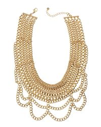 Lydell NYC | Metallic Multi-strand Chain Necklace | Lyst