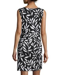 Diane von Furstenberg - Black Della Bamboo Twig Sheath Dress - Lyst