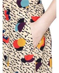 Chloé Multicolor Geometric Print Silk Skirt