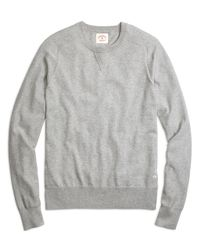 Brooks Brothers | Gray Cotton Cashmere Crewneck Sweater for Men | Lyst