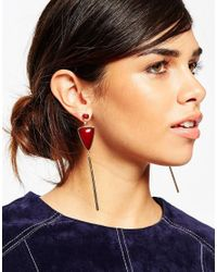 ASOS | Red Color Drop 70s Earrings | Lyst