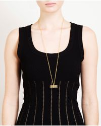 Maria Black - Metallic Goldplated Sterling Silver Triple Spear Necklace - Lyst