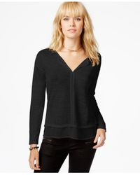 Sanctuary | Black Long-sleeve Layered Top | Lyst