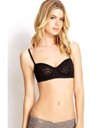 Forever 21 - Black Lovely Lace Convertible Bra - Lyst
