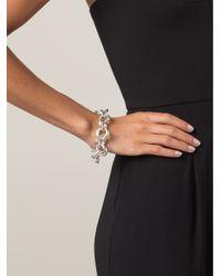 Vaubel | Metallic Oval Ring Bracelet | Lyst