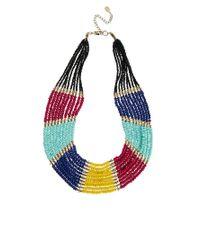 ALDO - Multicolor Modanella Beaded Collar Necklace - Lyst