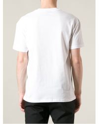 McQ White Skeleton And Insect Print T-Shirt for men