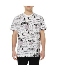 Sibling - White Printed Cottonjersey Tshirt for Men - Lyst