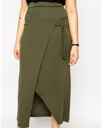 ASOS | Natural Maxi Skirt With D-ring Belt | Lyst