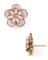 kate spade new york | Pink Graceful Floral Large Stud Earrings | Lyst