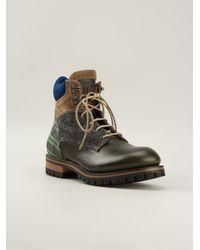 DSquared² Multicolor Combat Boots for men