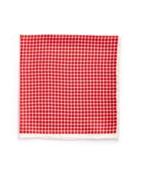 John W. Nordstrom Pink Silk Pocket Square for men