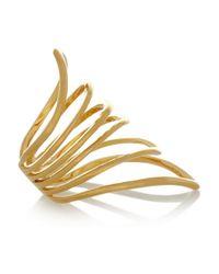 Arme De L'Amour - Metallic Reverse Chevron Gold-Plated Ring - Lyst