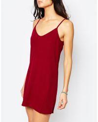 Flynn Skye Red Sequoia Mini Slip Dress In Merlot