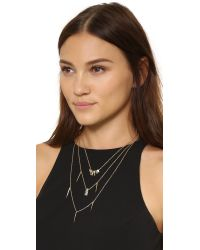Alexis Bittar - Metallic Crystal Matrix Layered Necklace - Gold Multi - Lyst