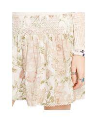 Denim & Supply Ralph Lauren Multicolor Smocked Floral Short