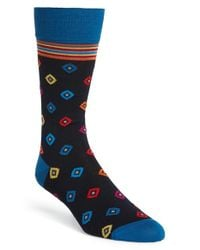 Bugatchi - Multicolor Diamond Socks for Men - Lyst