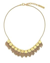 Vince Camuto | Metallic Tribal Core Goldtone Fringe Necklace | Lyst