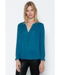 Joie | Blue Carita Silk Blouse | Lyst