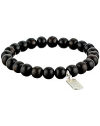 Dogeared | Black I Am Strong Wood Bead Bracelet | Lyst