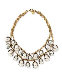 Lulu Frost White Decade Simulated Pearl Statement Necklace