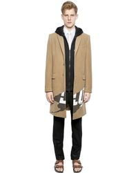 Givenchy Natural Printed Patch On Wool & Cashmere Coat for men