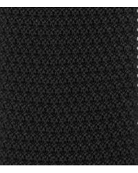 Reiss - Black Shaun Knitted Silk Tie for Men - Lyst