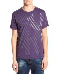 True Religion Purple 'linear' Graphic T-shirt for men
