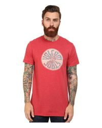 Volcom | Red Wax On Tee for Men | Lyst