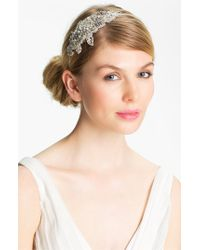 Halo - Metallic 'inez' Vintage Crystal Headband - Lyst